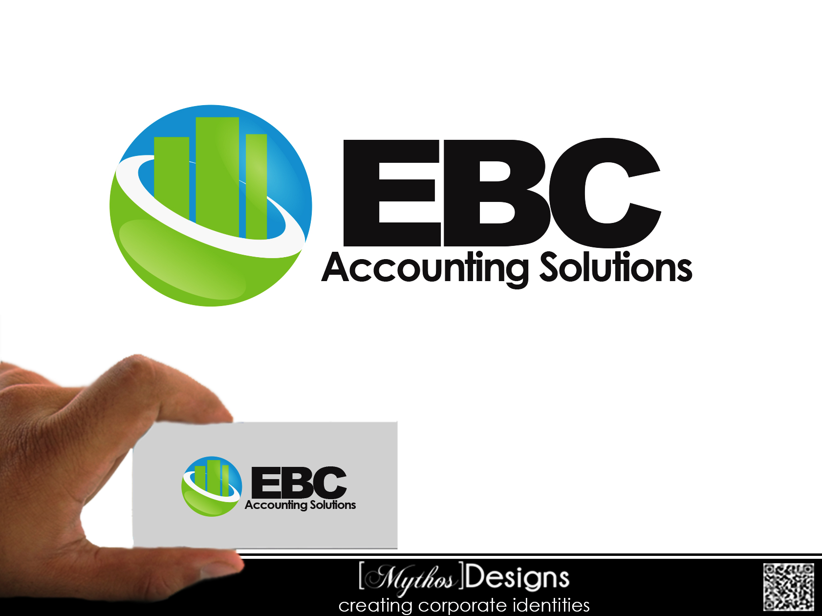 Logo Design by Mythos Designs - Entry No. 20 in the Logo Design Contest New Logo Design for EBC Accounting Solutions.