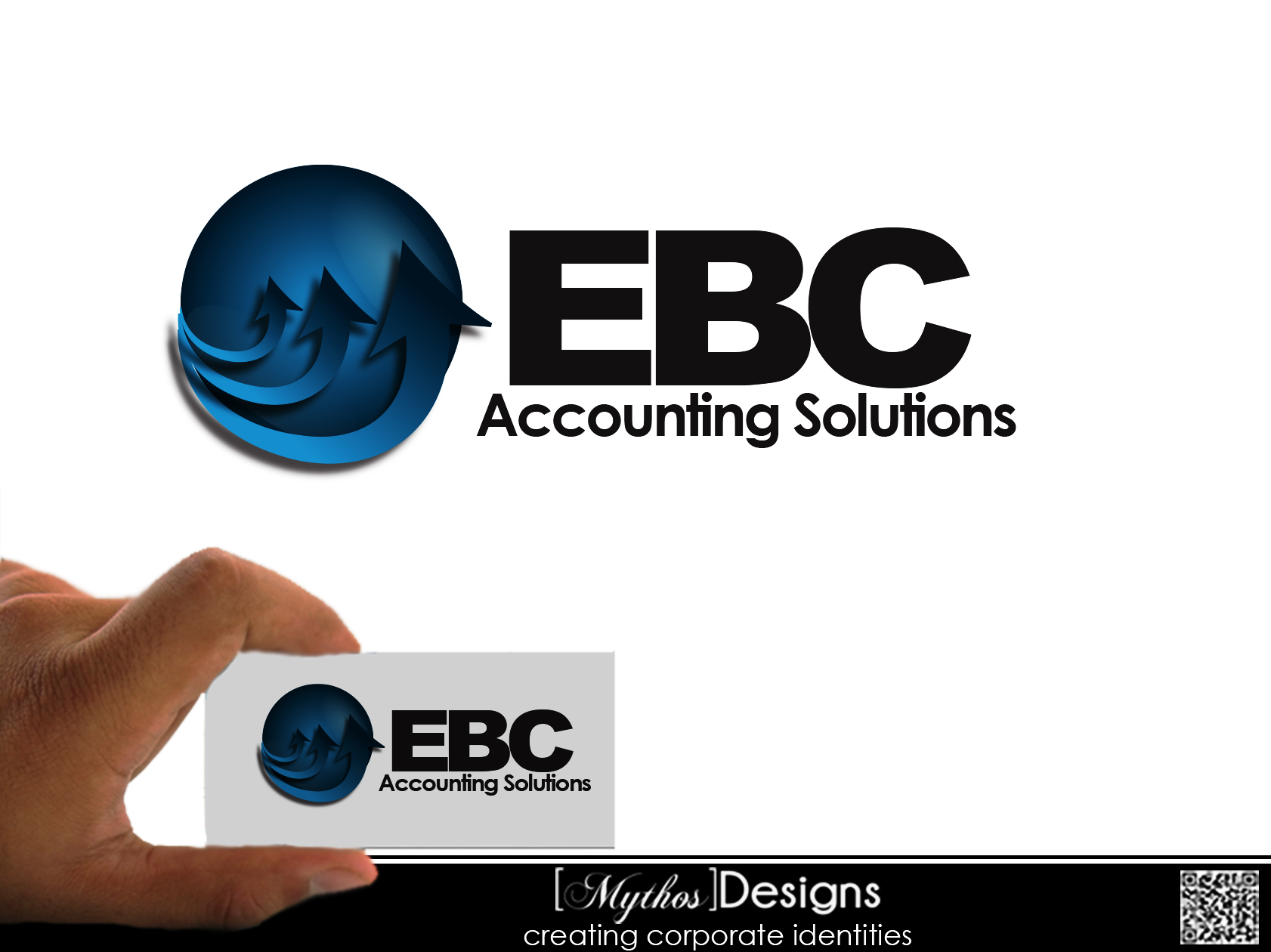 Logo Design by Mythos Designs - Entry No. 21 in the Logo Design Contest New Logo Design for EBC Accounting Solutions.