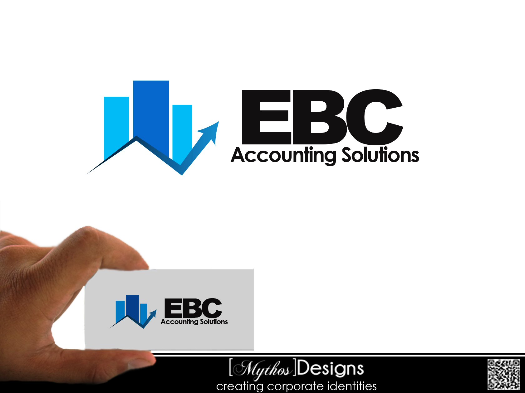 Logo Design by Mythos Designs - Entry No. 22 in the Logo Design Contest New Logo Design for EBC Accounting Solutions.