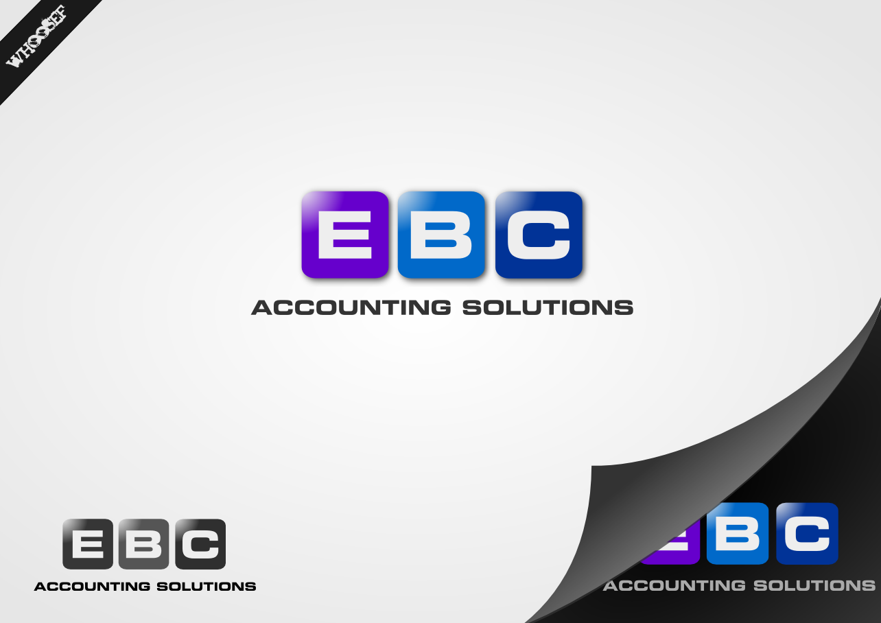 Logo Design by whoosef - Entry No. 24 in the Logo Design Contest New Logo Design for EBC Accounting Solutions.