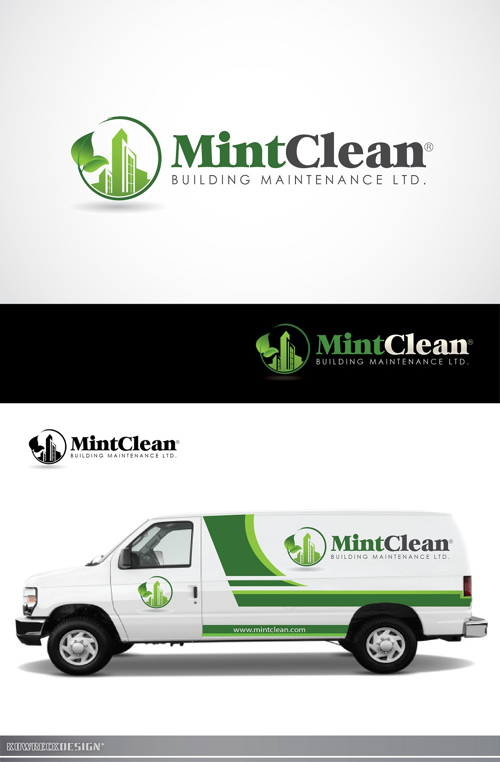 Logo Design by kowreck - Entry No. 138 in the Logo Design Contest MintClean Building Maintenance Ltd. Logo Design.