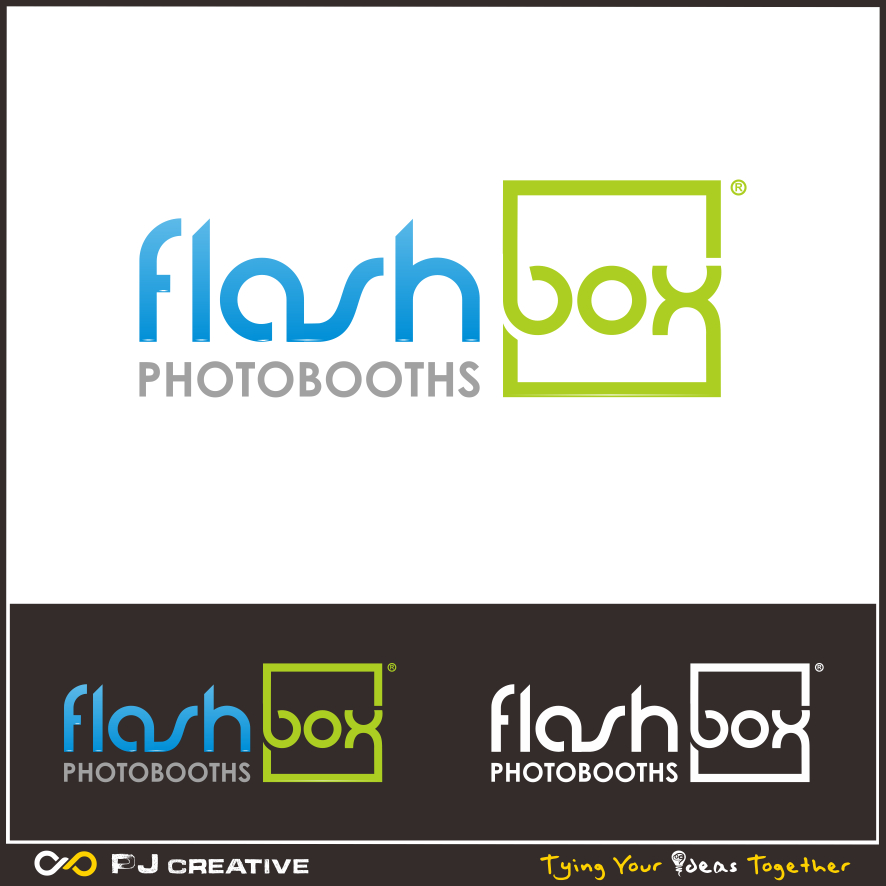 Logo Design by PJD - Entry No. 132 in the Logo Design Contest New Logo Design for FlashBox Photobooths.