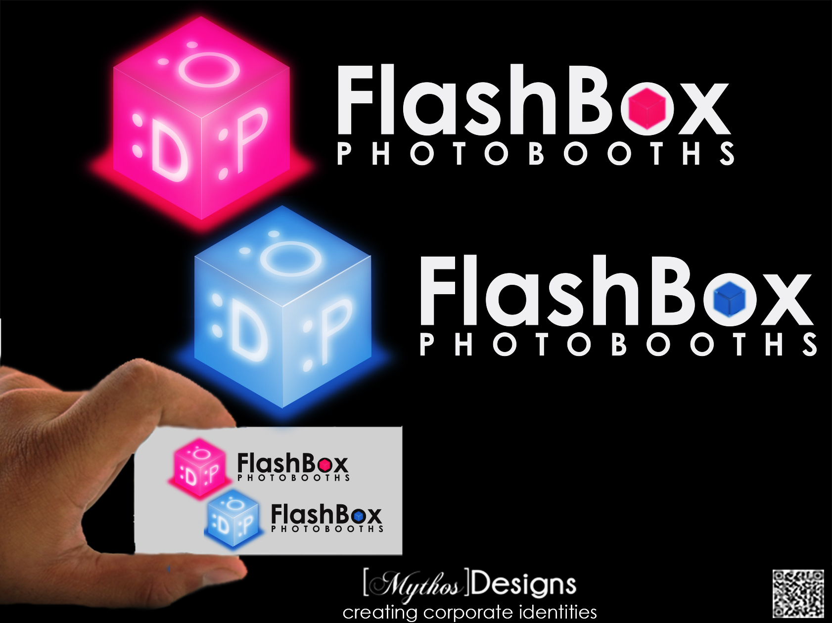 Logo Design by Mythos Designs - Entry No. 136 in the Logo Design Contest New Logo Design for FlashBox Photobooths.