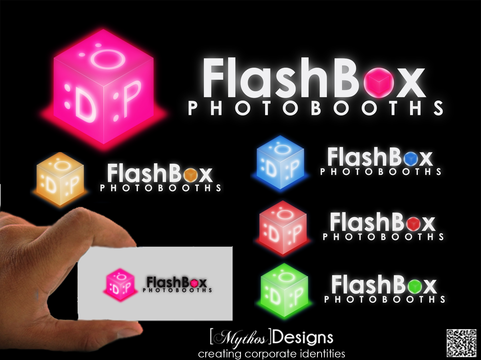 Logo Design by Mythos Designs - Entry No. 141 in the Logo Design Contest New Logo Design for FlashBox Photobooths.