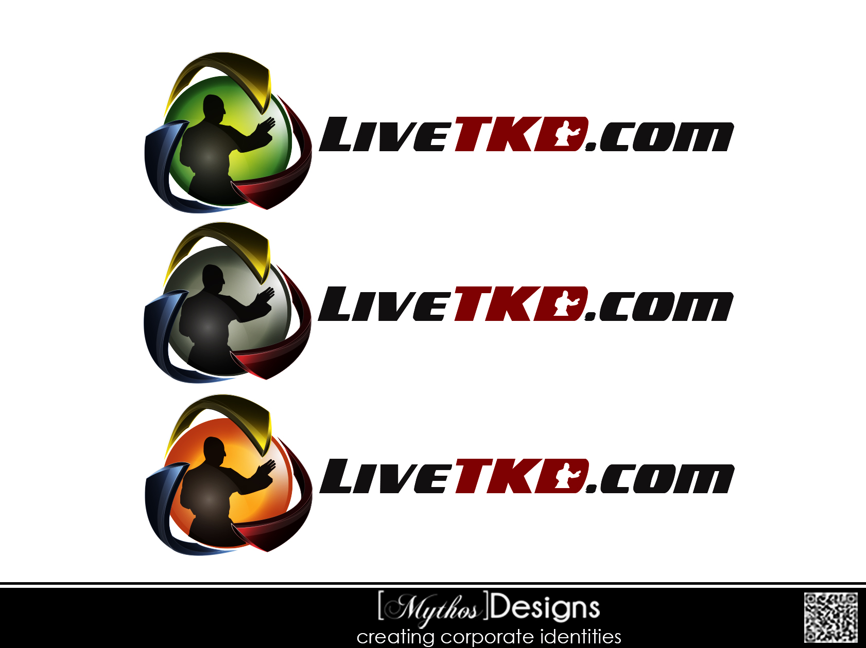 Logo Design by Mythos Designs - Entry No. 19 in the Logo Design Contest New Logo Design for LiveTKD.com.