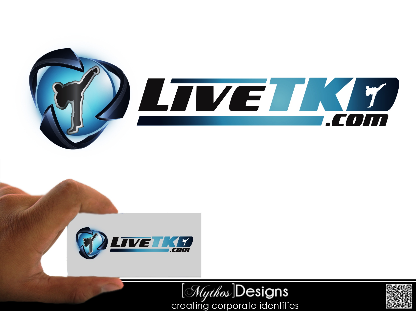 Logo Design by Mythos Designs - Entry No. 25 in the Logo Design Contest New Logo Design for LiveTKD.com.