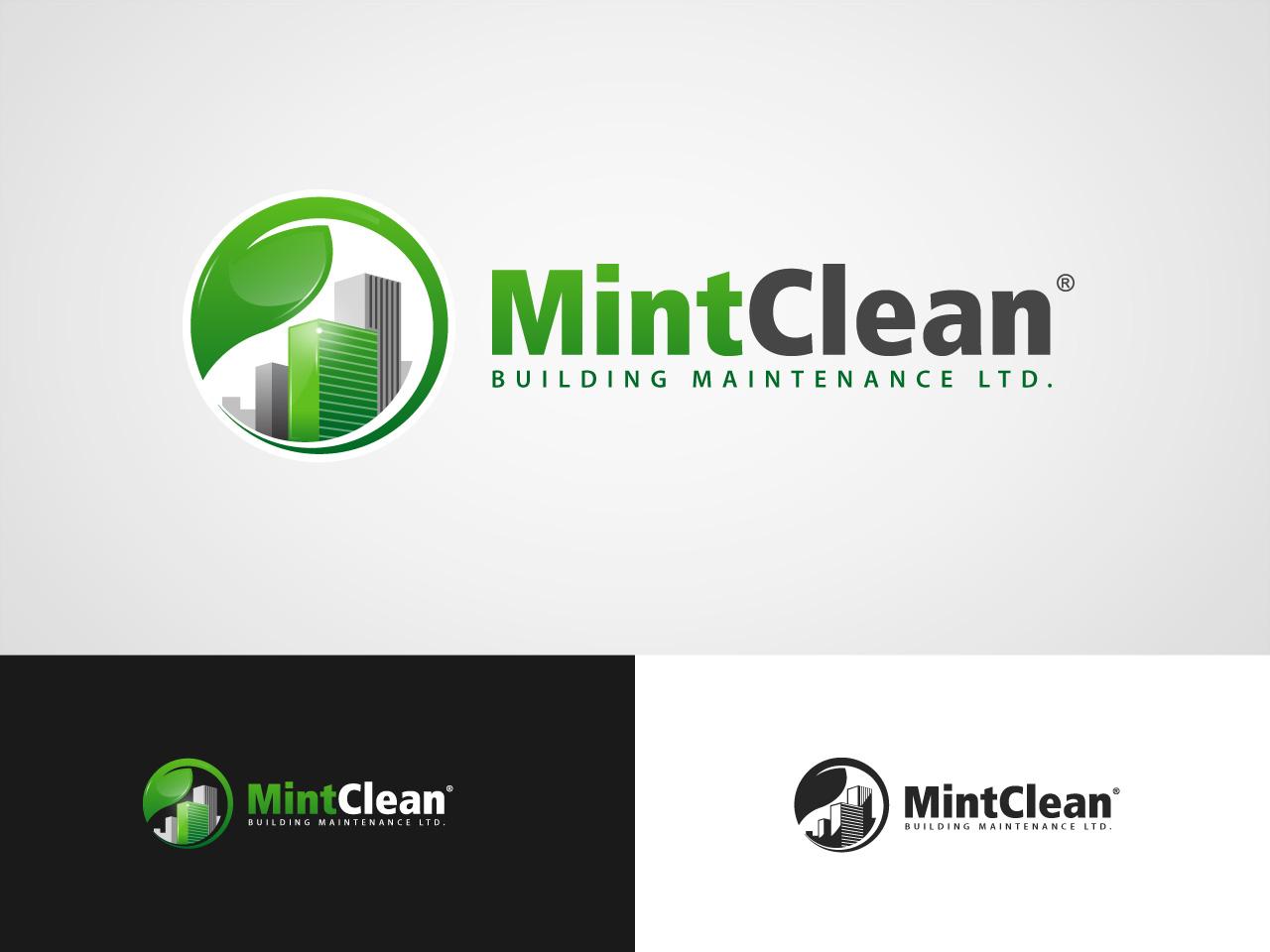 Logo Design by jpbituin - Entry No. 153 in the Logo Design Contest MintClean Building Maintenance Ltd. Logo Design.
