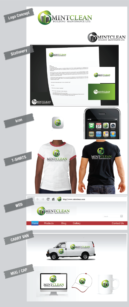Logo Design by Private User - Entry No. 159 in the Logo Design Contest MintClean Building Maintenance Ltd. Logo Design.