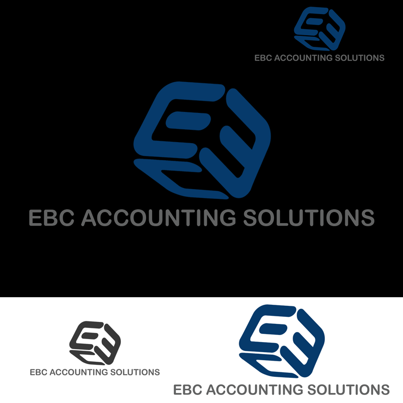 Logo Design by Robert Turla - Entry No. 33 in the Logo Design Contest New Logo Design for EBC Accounting Solutions.