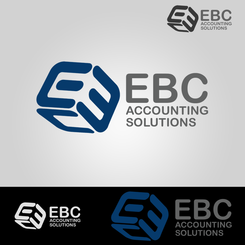 Logo Design by Private User - Entry No. 34 in the Logo Design Contest New Logo Design for EBC Accounting Solutions.