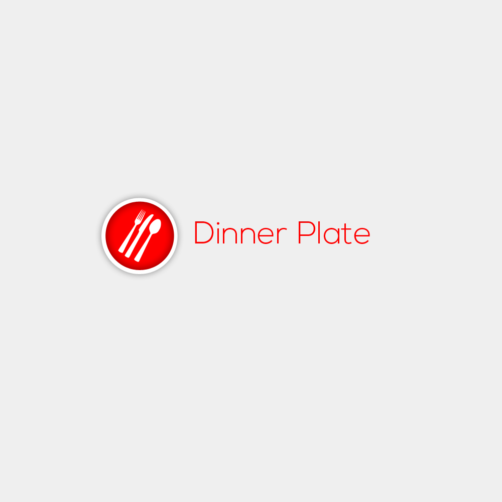 Logo Design by Bobby Yoga P - Entry No. 14 in the Logo Design Contest Imaginative Logo Design for Dinner Plate.