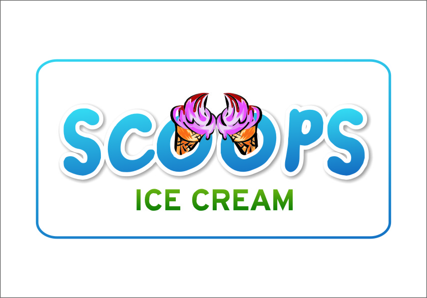 Logo Design by RasYa Muhammad Athaya - Entry No. 5 in the Logo Design Contest Captivating Logo Design for SCOOPS ICE CREAM.