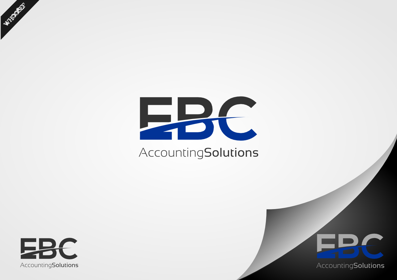 Logo Design by whoosef - Entry No. 43 in the Logo Design Contest New Logo Design for EBC Accounting Solutions.