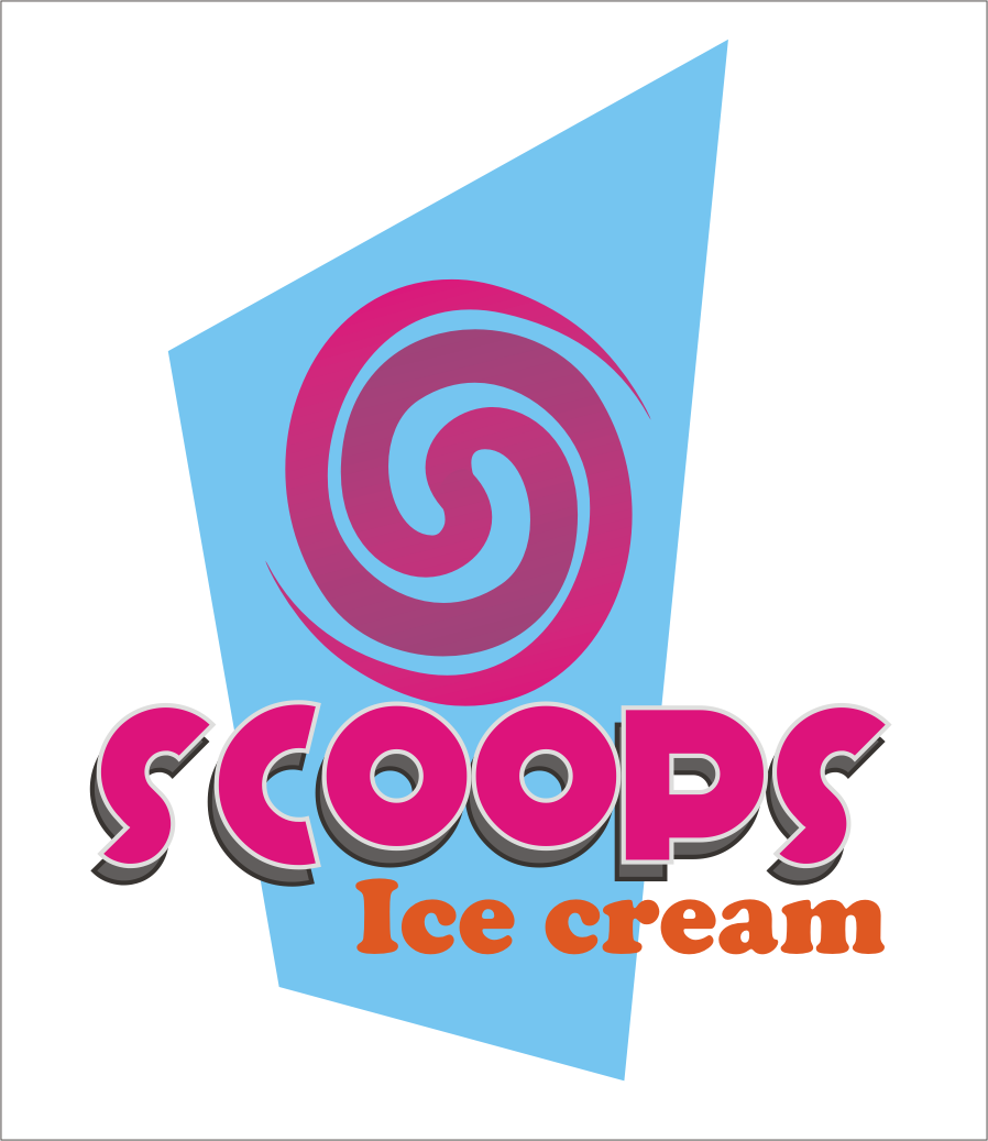 Logo Design by Aveeb Murdavein - Entry No. 9 in the Logo Design Contest Captivating Logo Design for SCOOPS ICE CREAM.