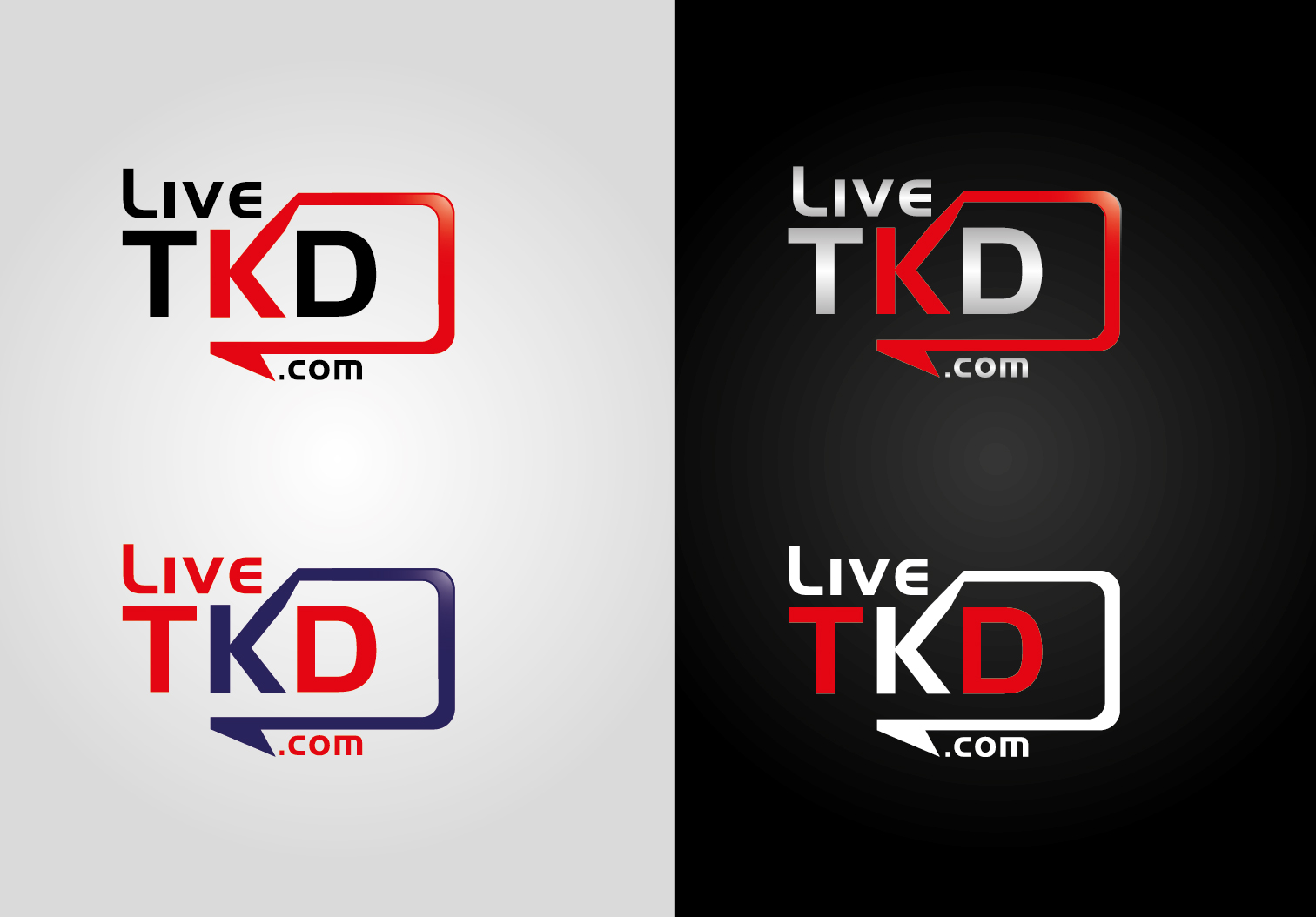 Logo Design by VENTSISLAV KOVACHEV - Entry No. 58 in the Logo Design Contest New Logo Design for LiveTKD.com.