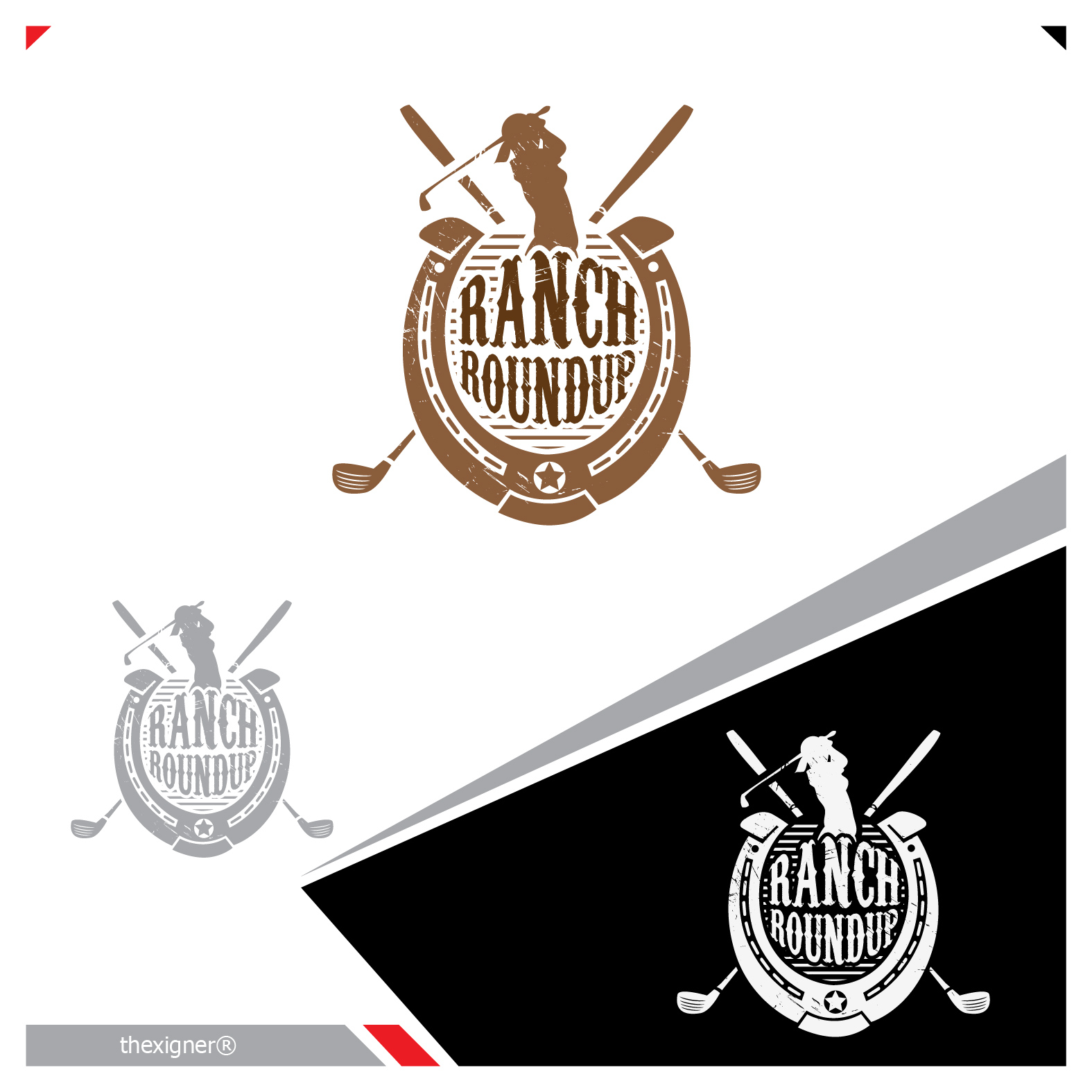 Logo Design by lagalag - Entry No. 10 in the Logo Design Contest Captivating Logo Design for Ranch Roundup.