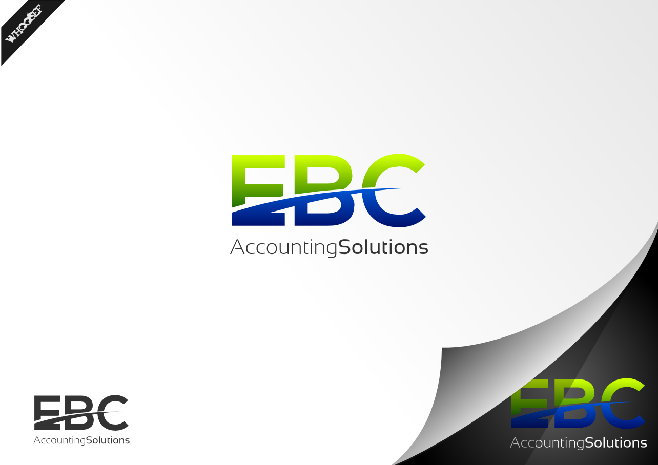 Logo Design by whoosef - Entry No. 47 in the Logo Design Contest New Logo Design for EBC Accounting Solutions.