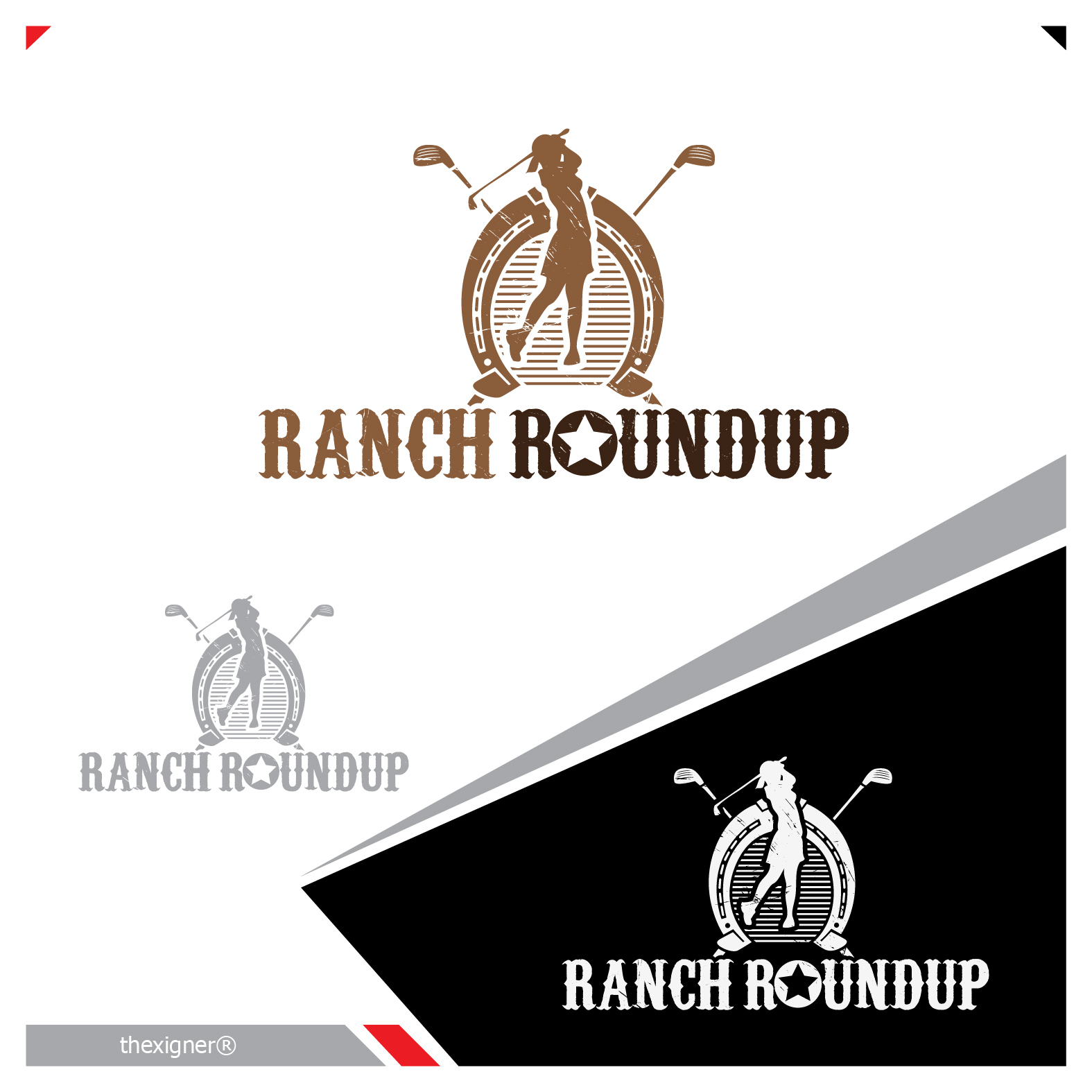 Logo Design by lagalag - Entry No. 11 in the Logo Design Contest Captivating Logo Design for Ranch Roundup.