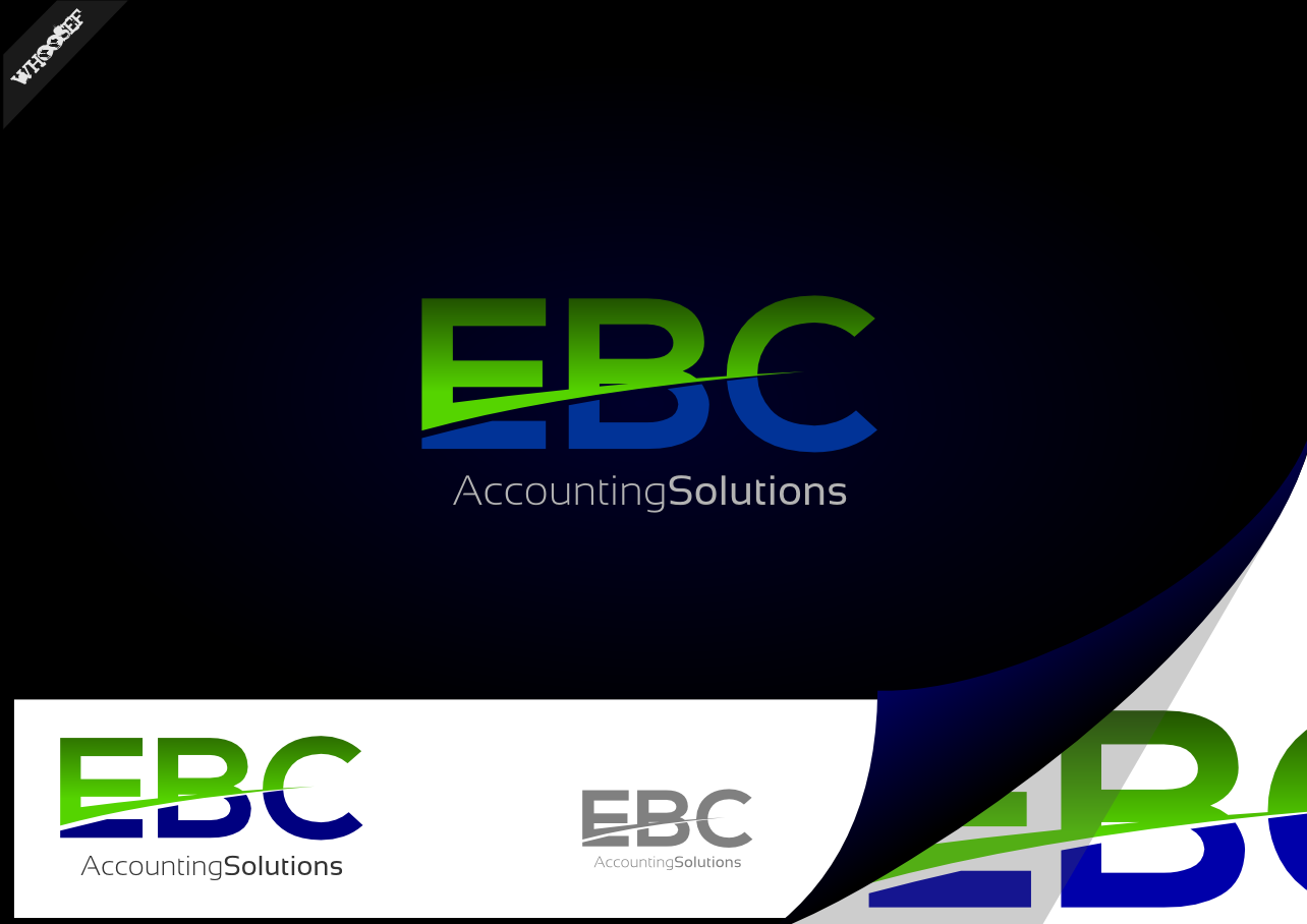 Logo Design by whoosef - Entry No. 48 in the Logo Design Contest New Logo Design for EBC Accounting Solutions.