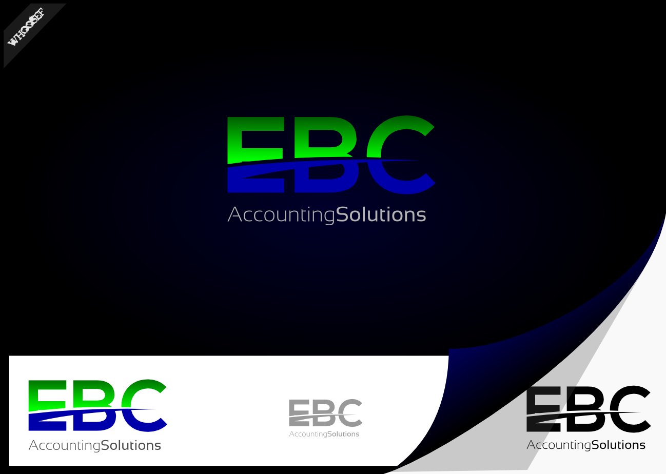 Logo Design by whoosef - Entry No. 49 in the Logo Design Contest New Logo Design for EBC Accounting Solutions.