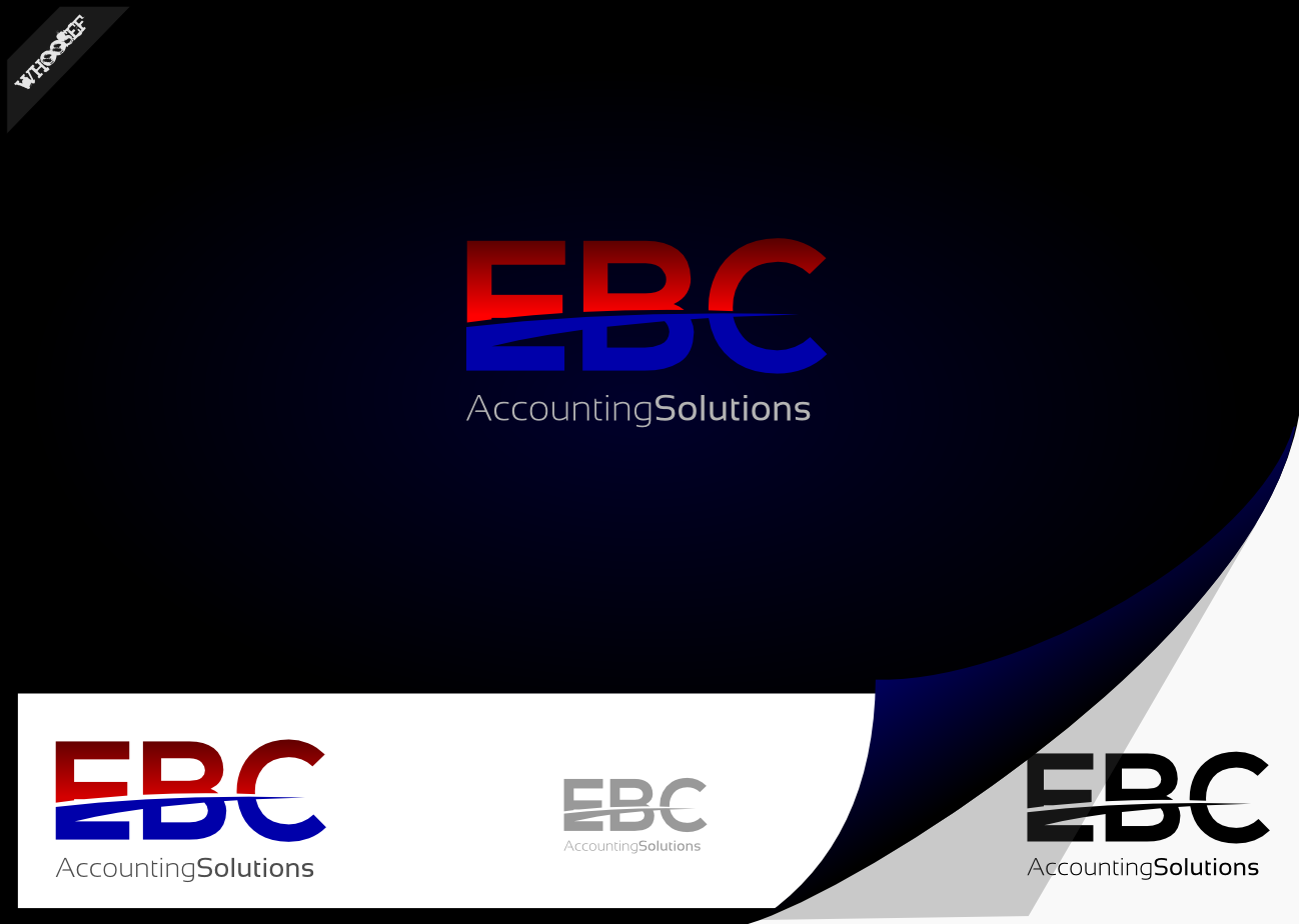 Logo Design by whoosef - Entry No. 50 in the Logo Design Contest New Logo Design for EBC Accounting Solutions.