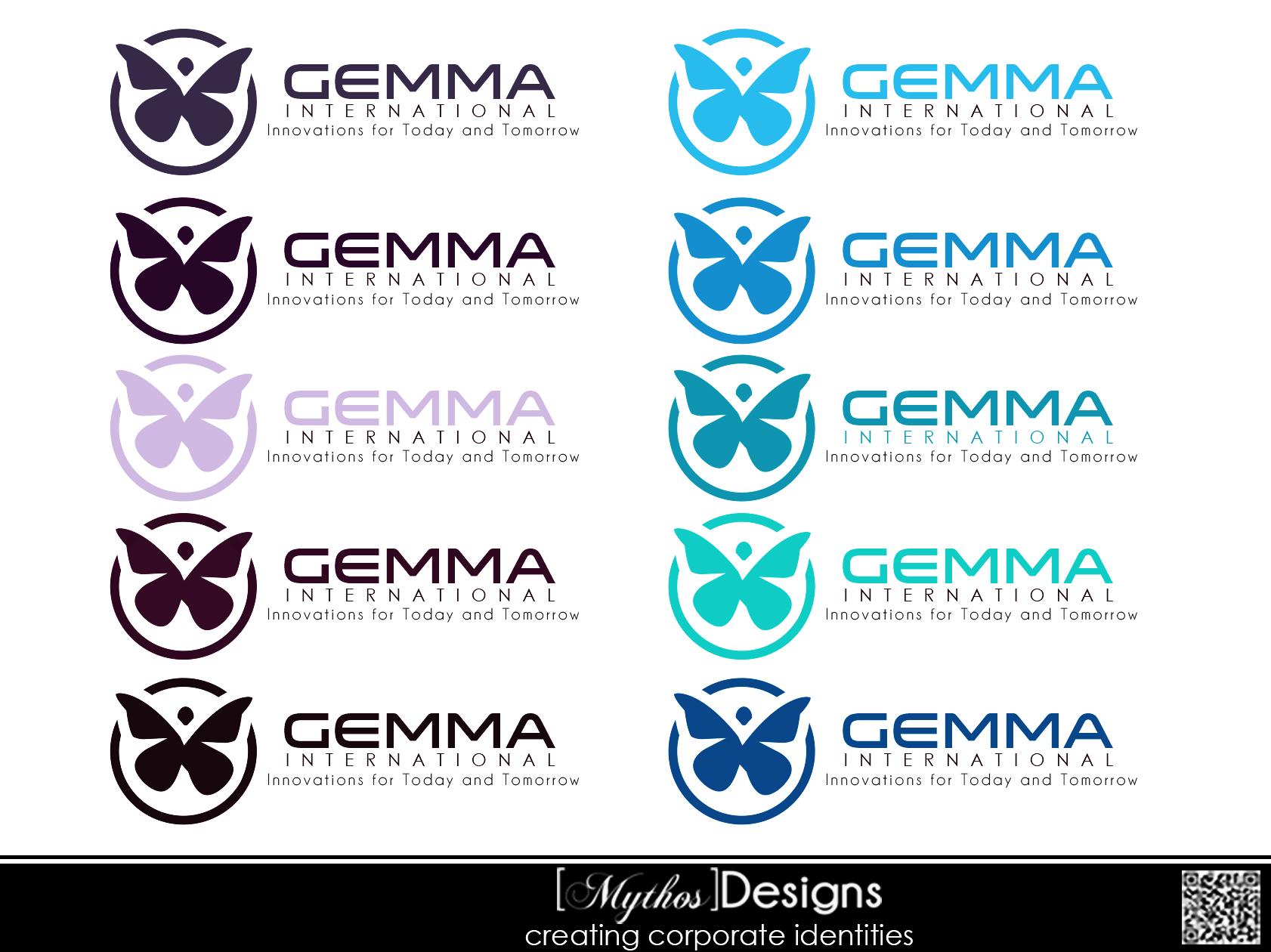 Logo Design by Mythos Designs - Entry No. 66 in the Logo Design Contest Artistic Logo Design for Gemma International.
