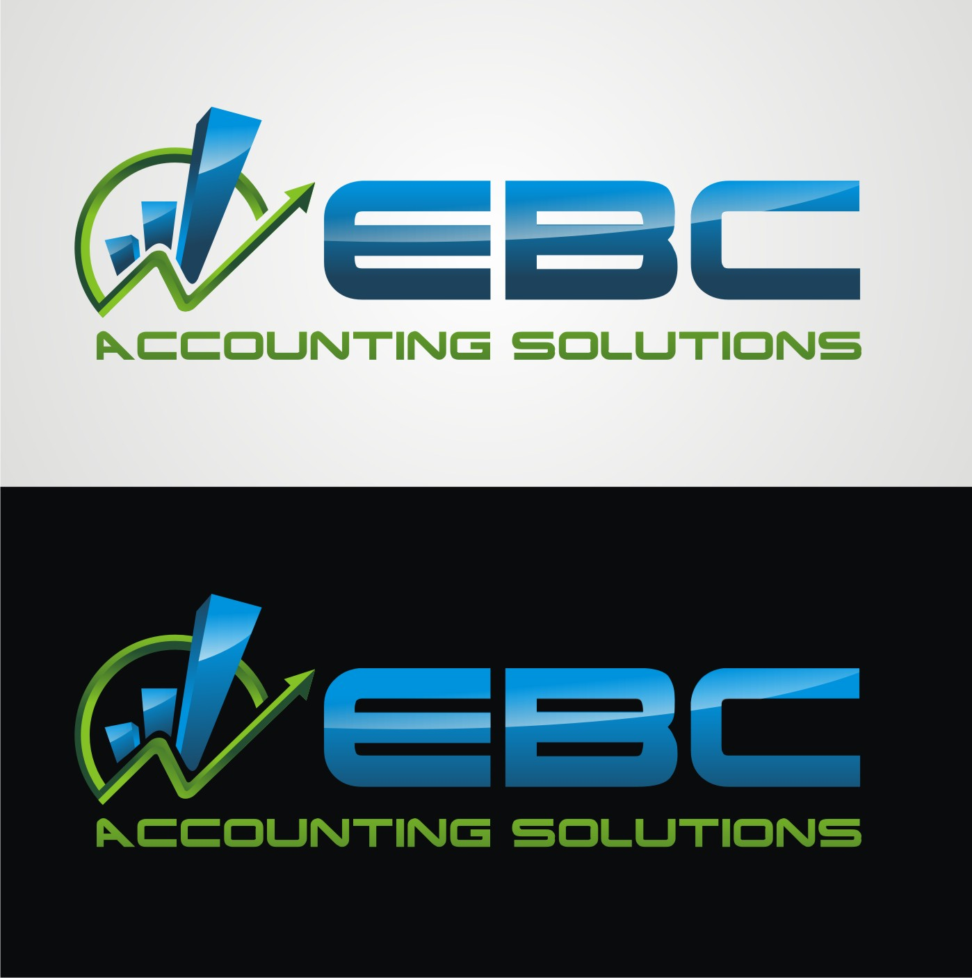 Logo Design by Reivan Ferdinan - Entry No. 66 in the Logo Design Contest New Logo Design for EBC Accounting Solutions.