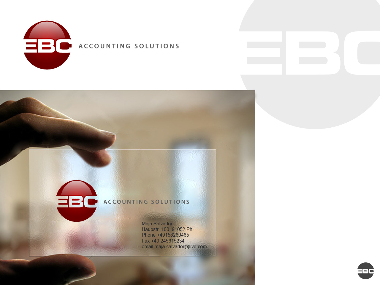 Logo Design by jpbituin - Entry No. 85 in the Logo Design Contest New Logo Design for EBC Accounting Solutions.