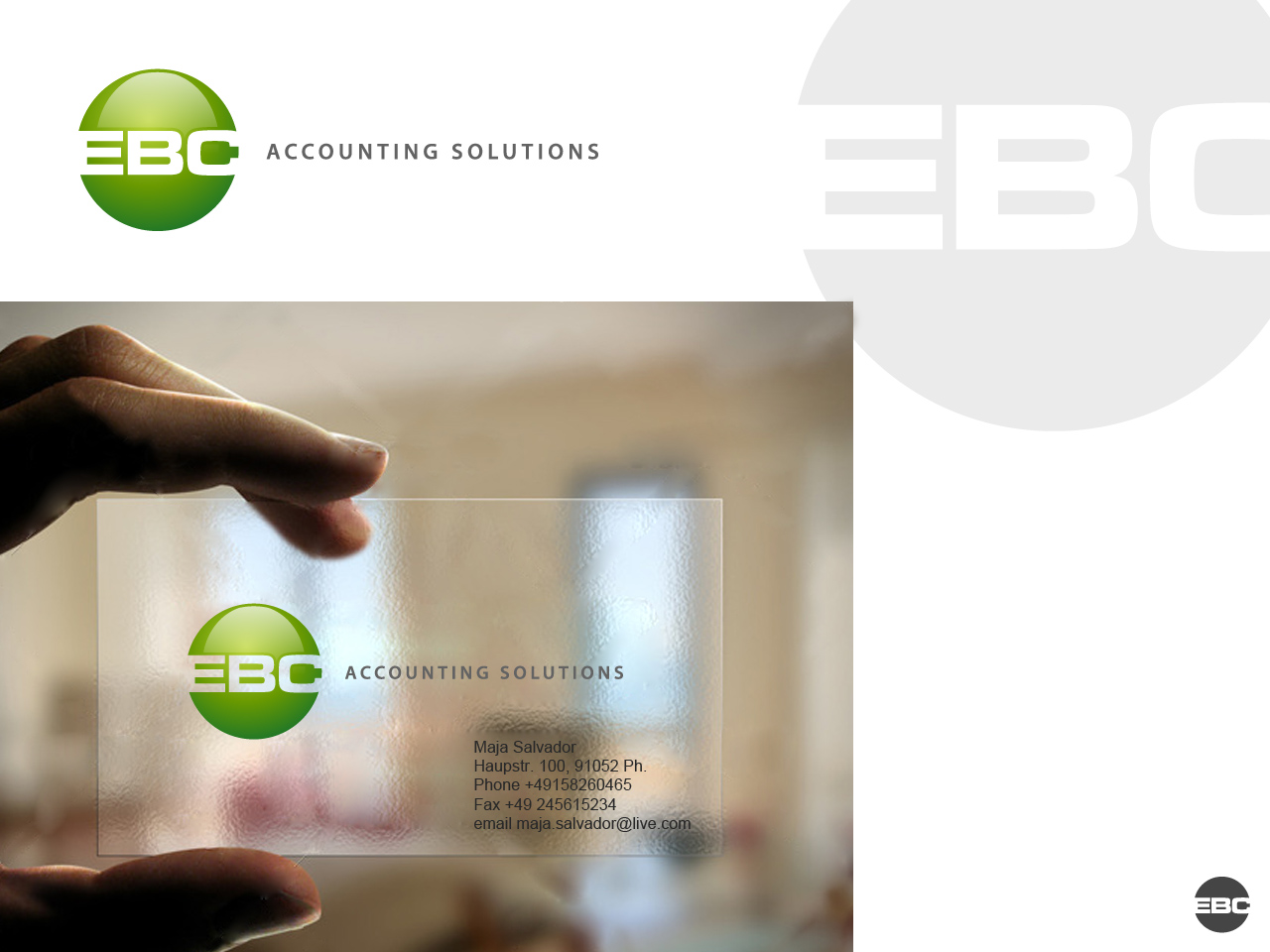 Logo Design by jpbituin - Entry No. 86 in the Logo Design Contest New Logo Design for EBC Accounting Solutions.