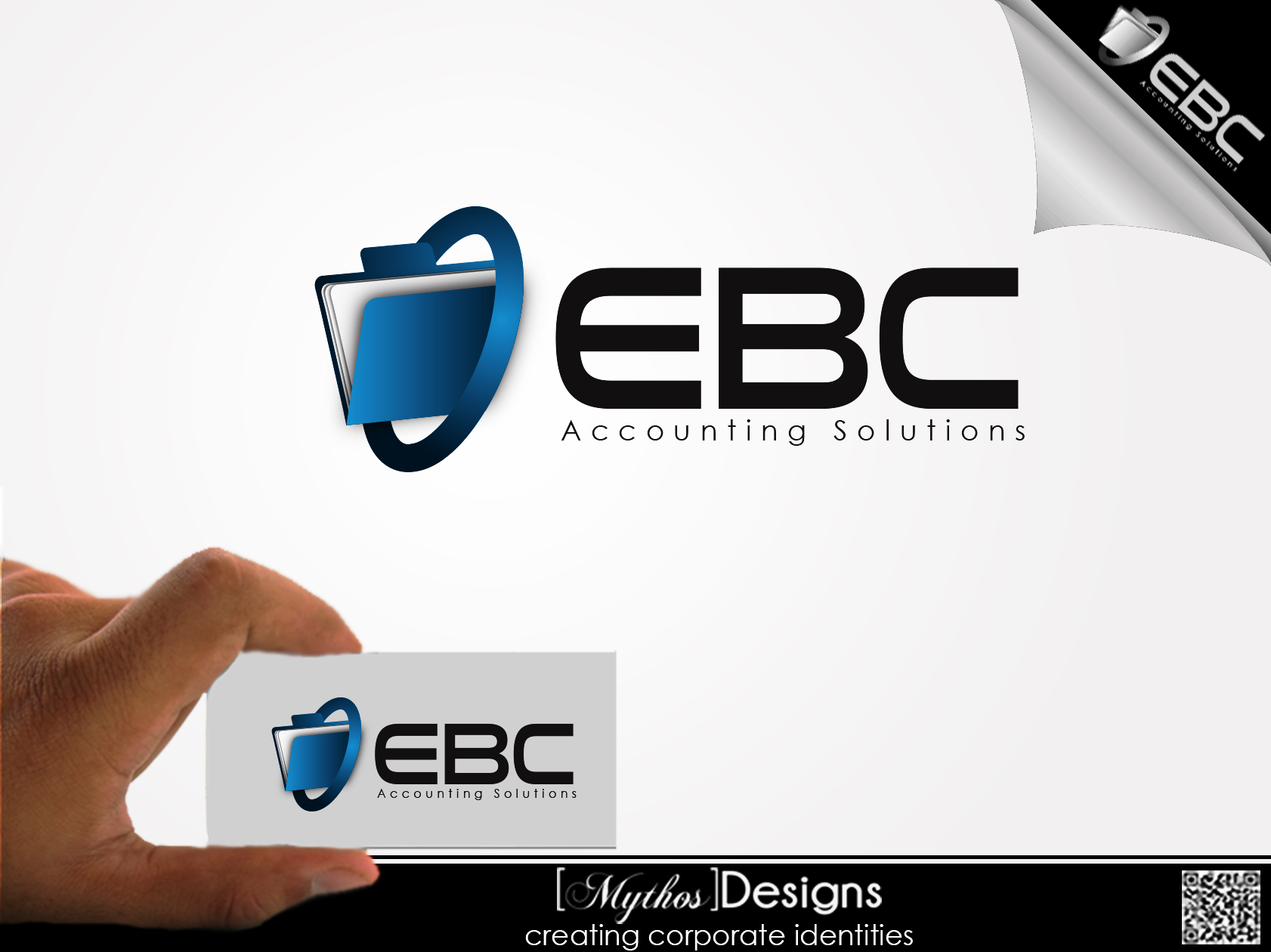 Logo Design by Mythos Designs - Entry No. 93 in the Logo Design Contest New Logo Design for EBC Accounting Solutions.