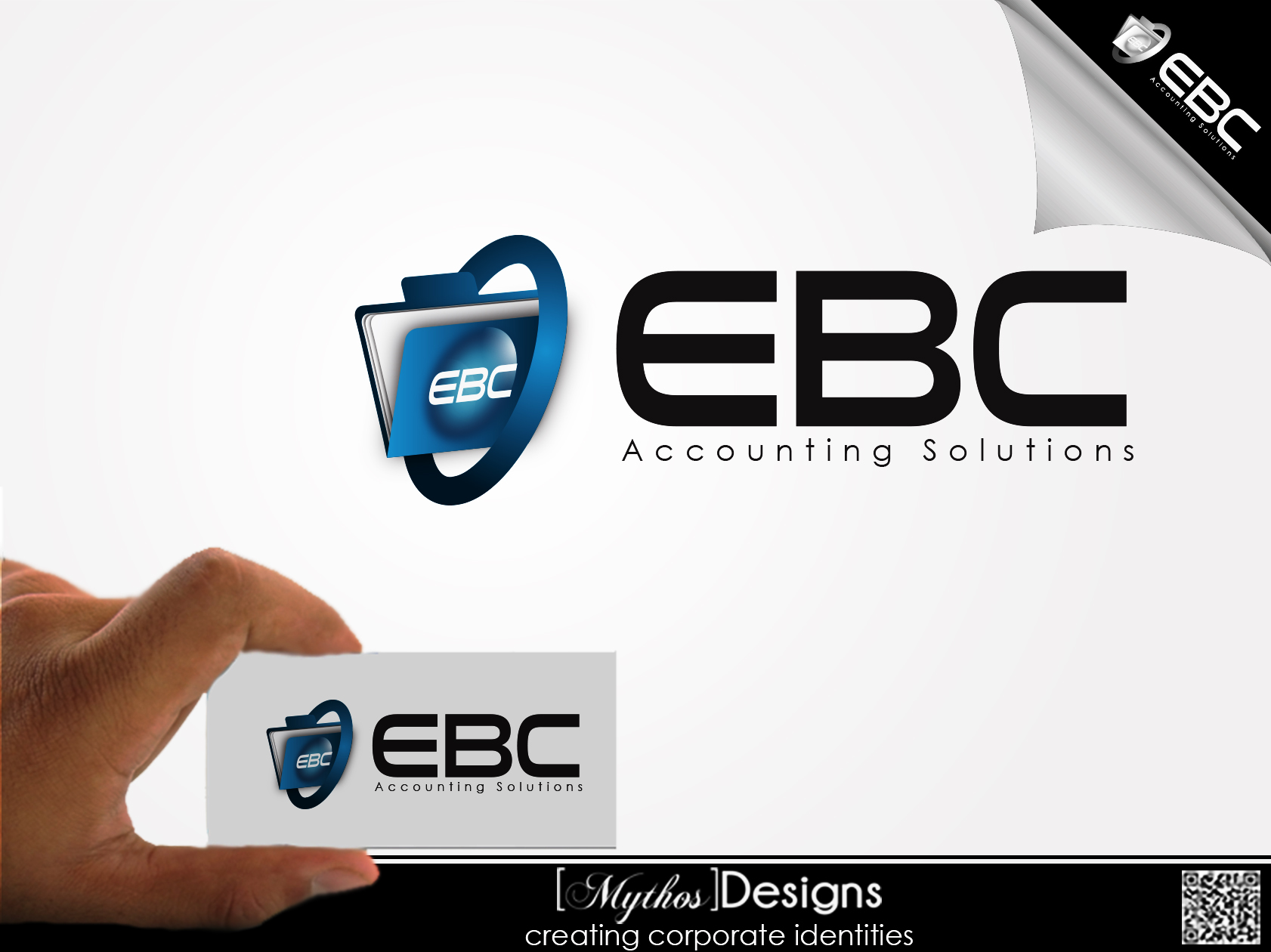 Logo Design by Mythos Designs - Entry No. 95 in the Logo Design Contest New Logo Design for EBC Accounting Solutions.
