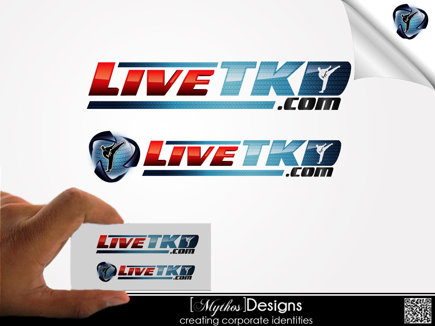 Logo Design by Mythos Designs - Entry No. 98 in the Logo Design Contest New Logo Design for LiveTKD.com.