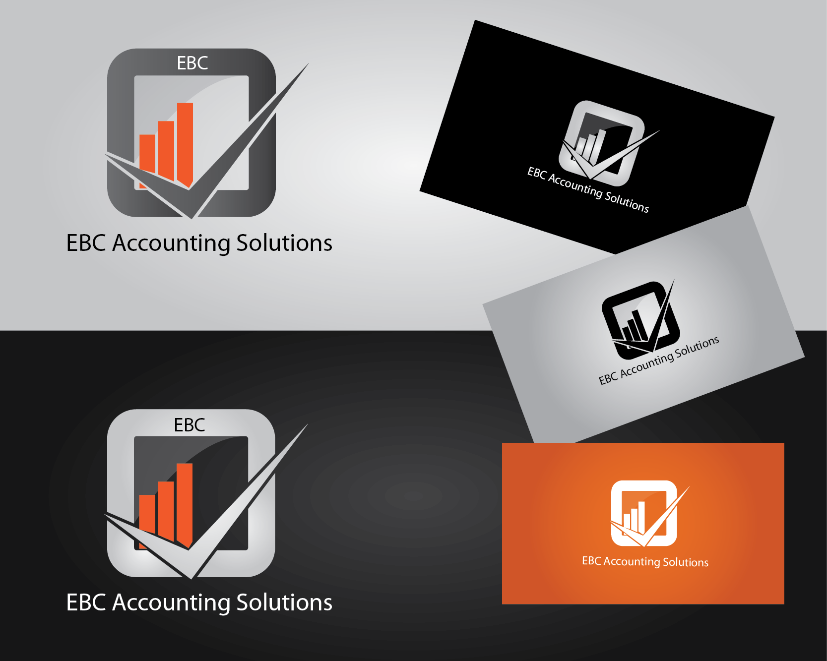 Logo Design by Jesus Emmanuel GAbriel - Entry No. 105 in the Logo Design Contest New Logo Design for EBC Accounting Solutions.