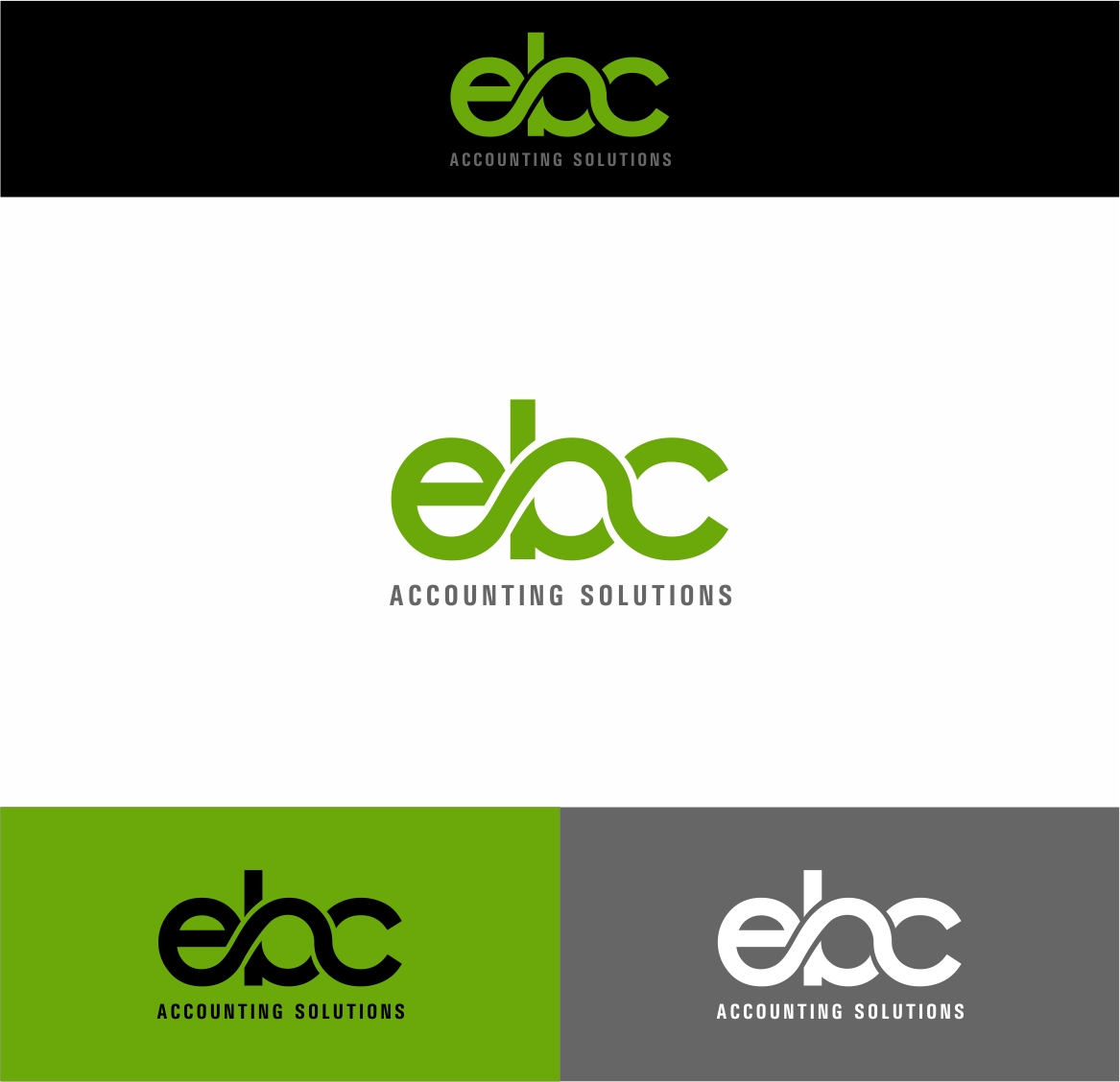 Logo Design by haidu - Entry No. 107 in the Logo Design Contest New Logo Design for EBC Accounting Solutions.