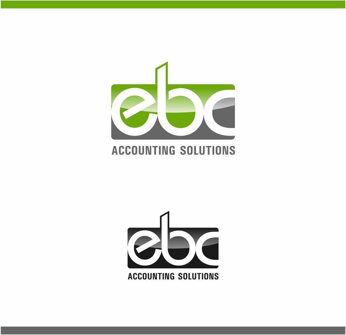 Logo Design by haidu - Entry No. 108 in the Logo Design Contest New Logo Design for EBC Accounting Solutions.