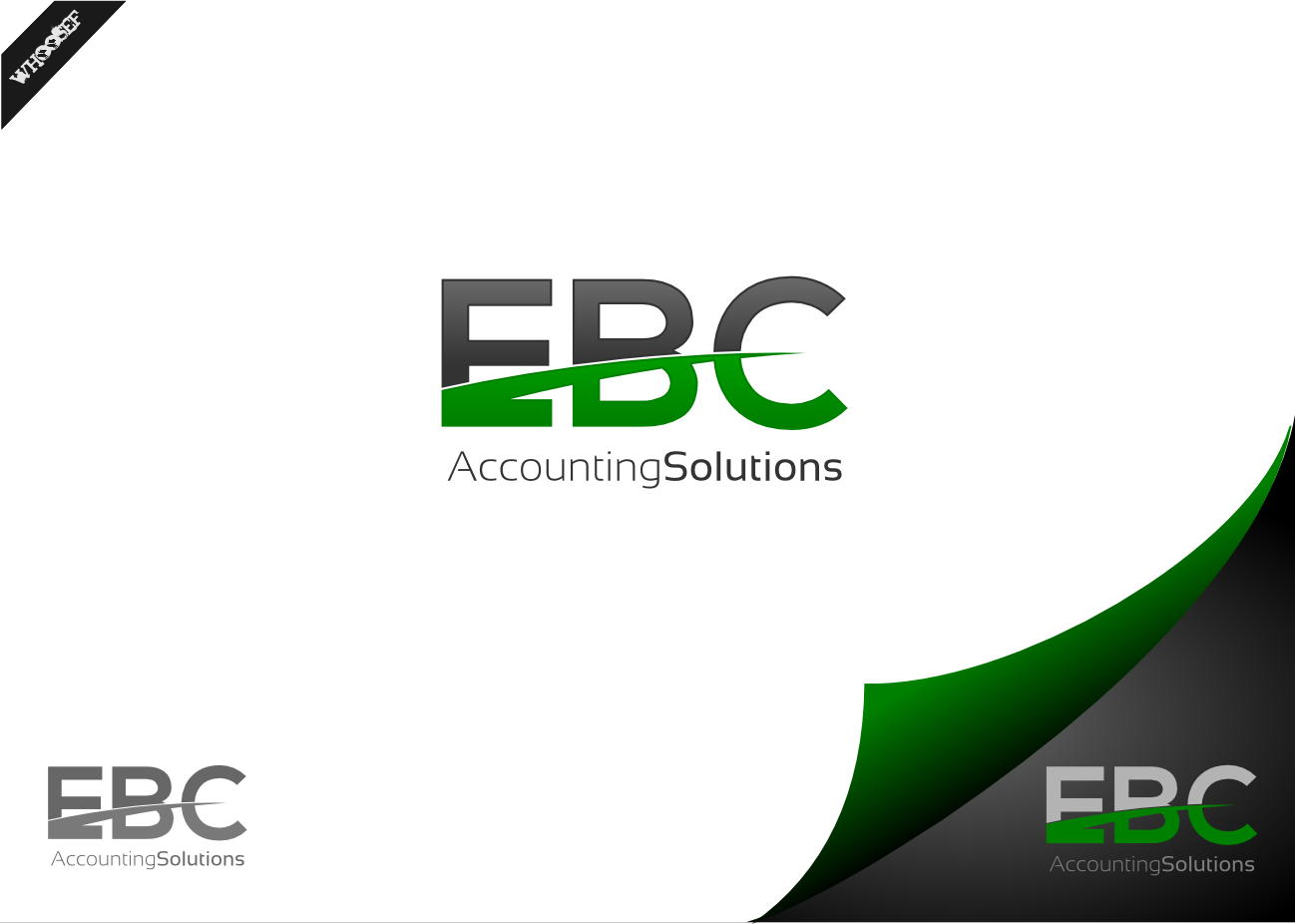 Logo Design by whoosef - Entry No. 109 in the Logo Design Contest New Logo Design for EBC Accounting Solutions.