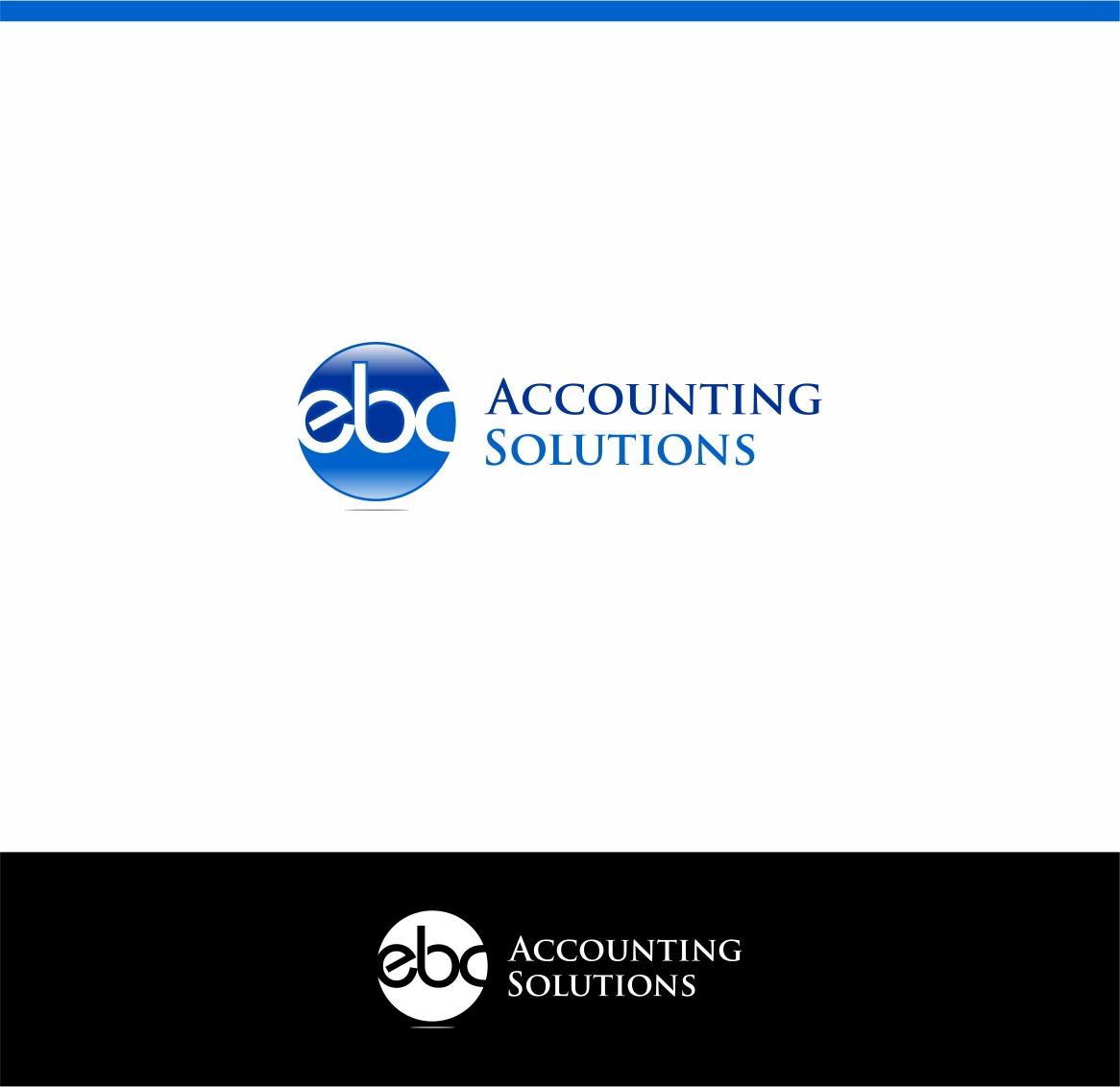 Logo Design by haidu - Entry No. 111 in the Logo Design Contest New Logo Design for EBC Accounting Solutions.