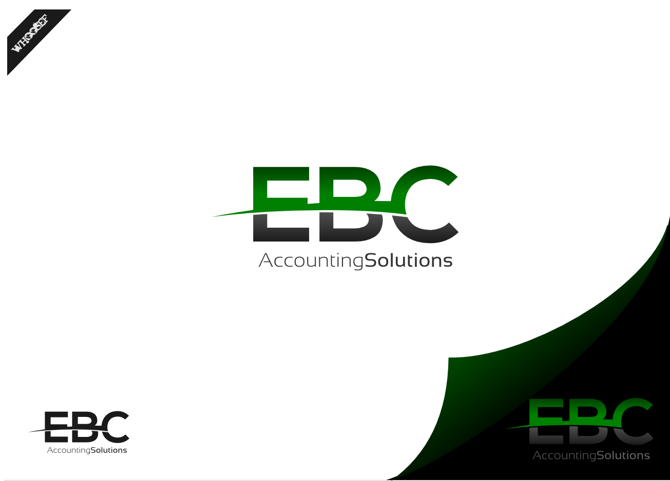 Logo Design by whoosef - Entry No. 113 in the Logo Design Contest New Logo Design for EBC Accounting Solutions.