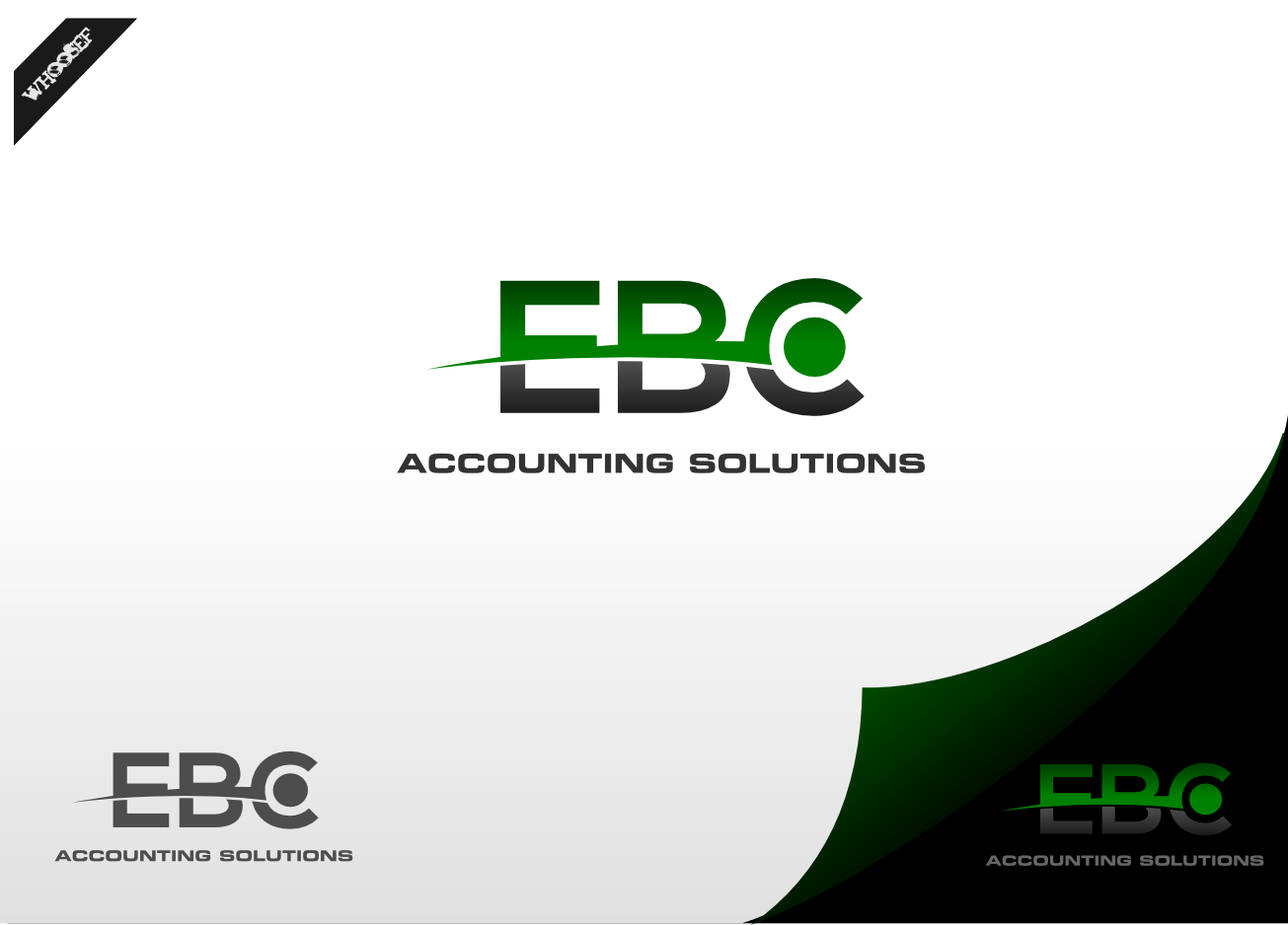 Logo Design by whoosef - Entry No. 115 in the Logo Design Contest New Logo Design for EBC Accounting Solutions.
