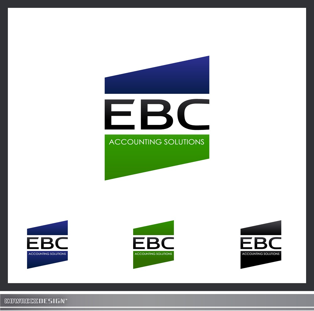 Logo Design by kowreck - Entry No. 122 in the Logo Design Contest New Logo Design for EBC Accounting Solutions.