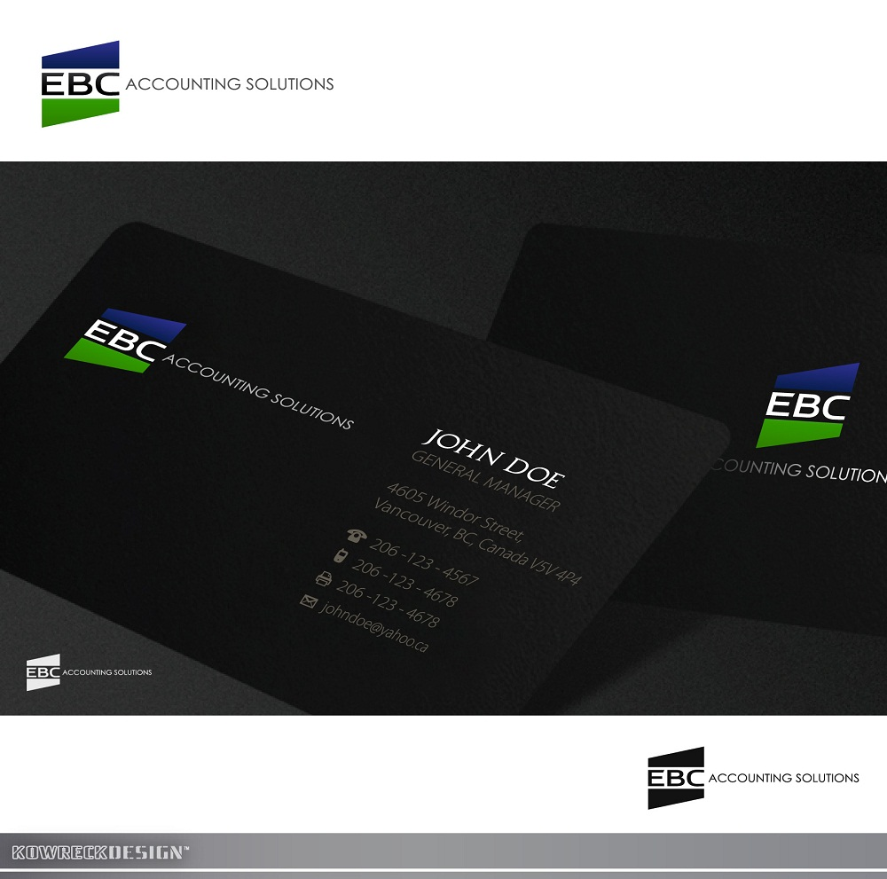 Logo Design by kowreck - Entry No. 123 in the Logo Design Contest New Logo Design for EBC Accounting Solutions.