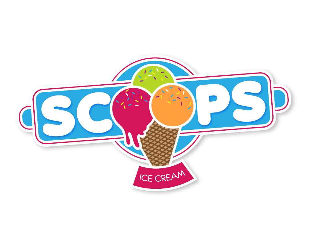 Logo Design by mr.pompi - Entry No. 24 in the Logo Design Contest Captivating Logo Design for SCOOPS ICE CREAM.