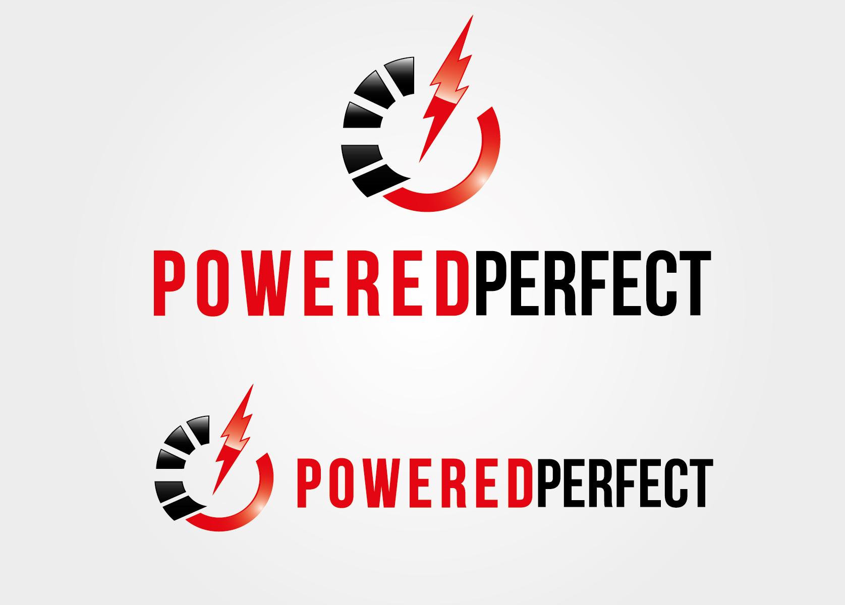 Logo Design by VENTSISLAV KOVACHEV - Entry No. 7 in the Logo Design Contest Captivating Logo Design for Powered Perfect.
