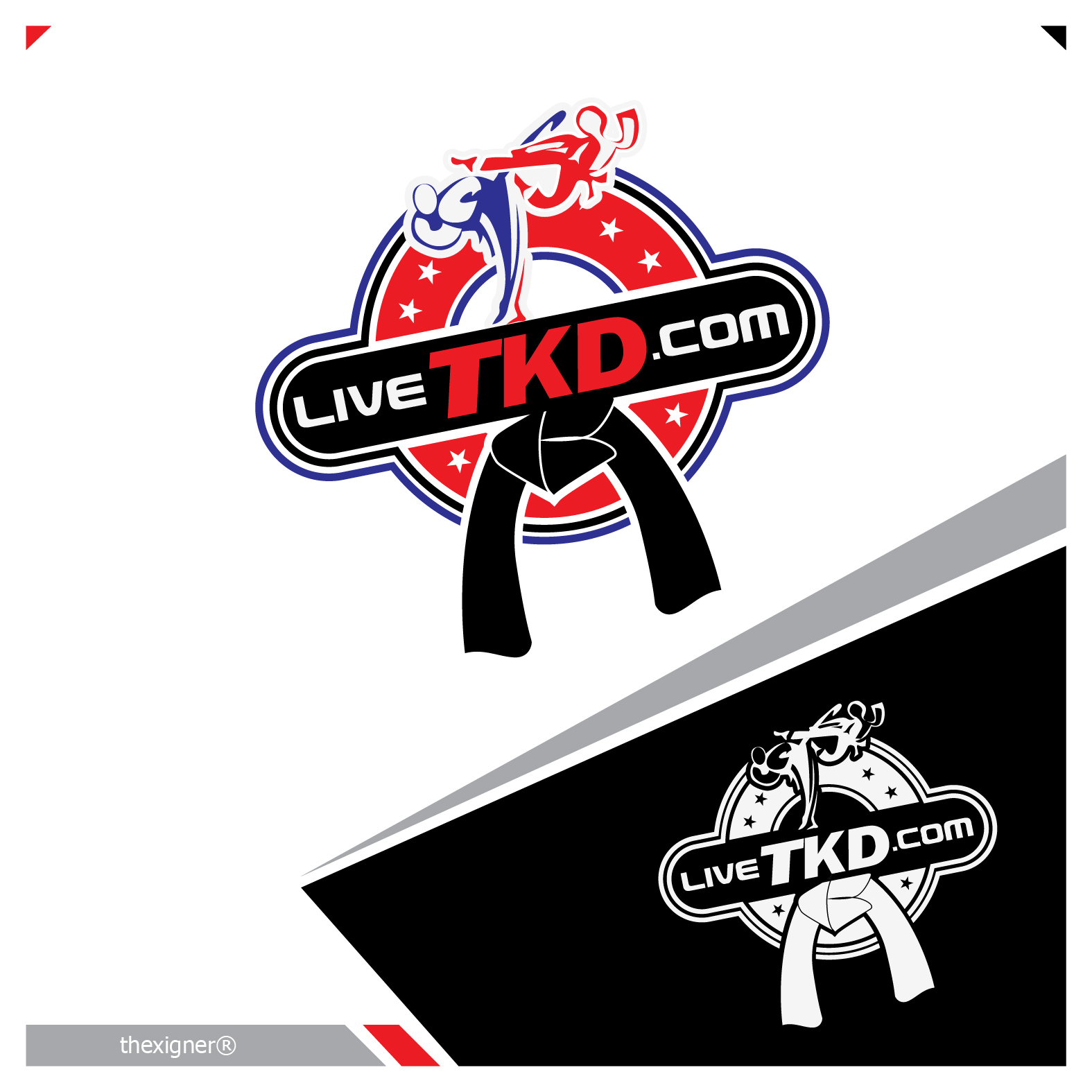 Logo Design by lagalag - Entry No. 108 in the Logo Design Contest New Logo Design for LiveTKD.com.