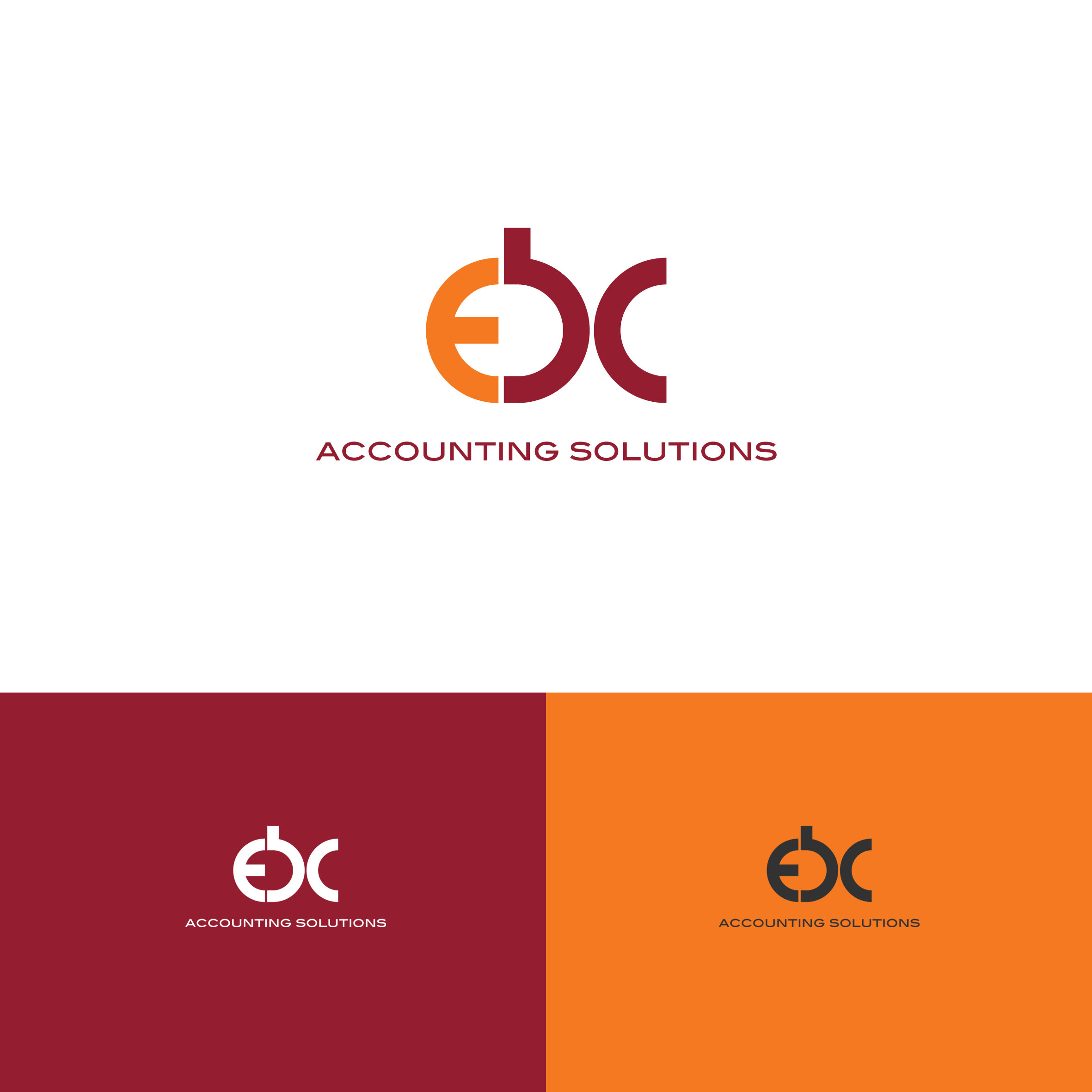 Logo Design by tanganpanas - Entry No. 131 in the Logo Design Contest New Logo Design for EBC Accounting Solutions.