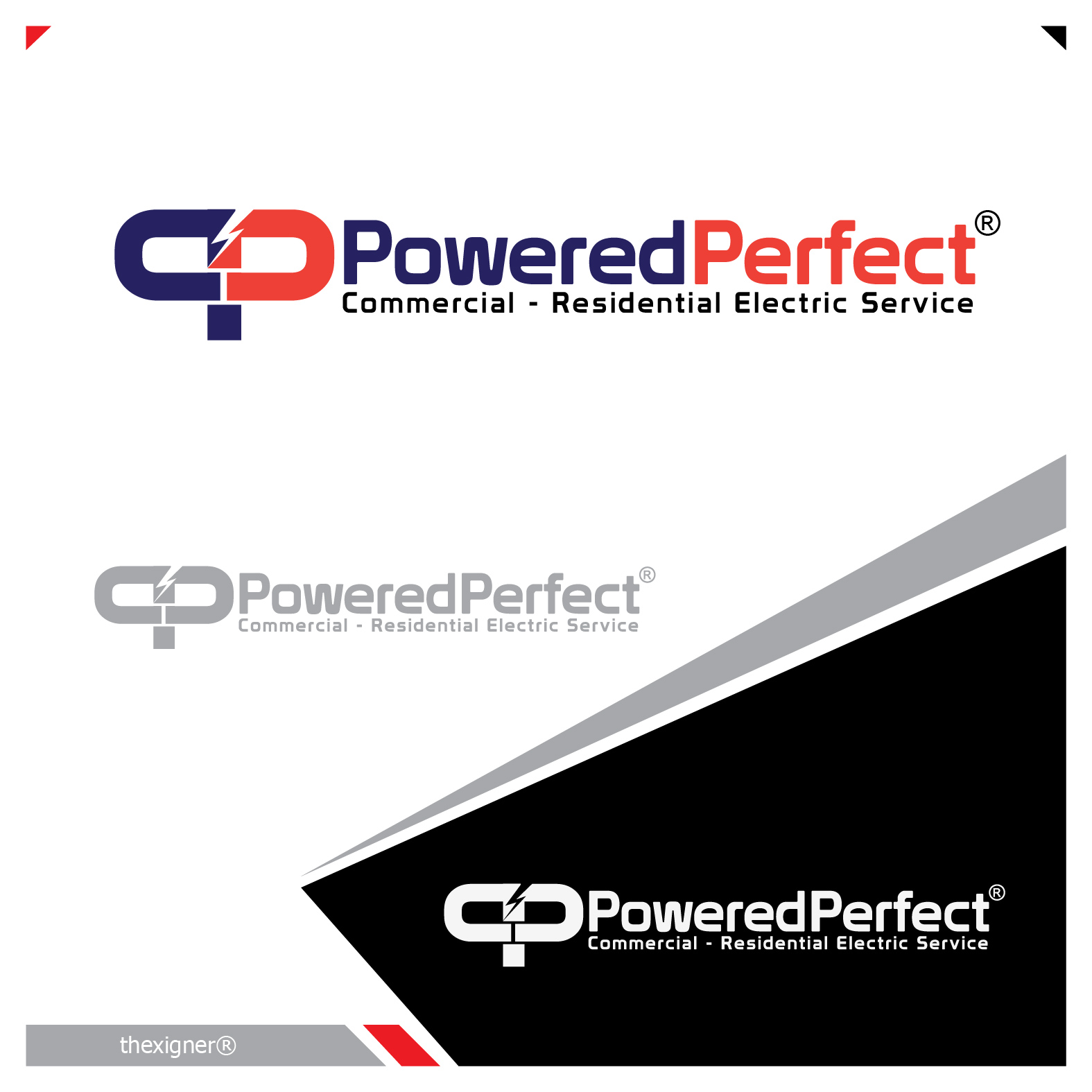 Logo Design by lagalag - Entry No. 10 in the Logo Design Contest Captivating Logo Design for Powered Perfect.