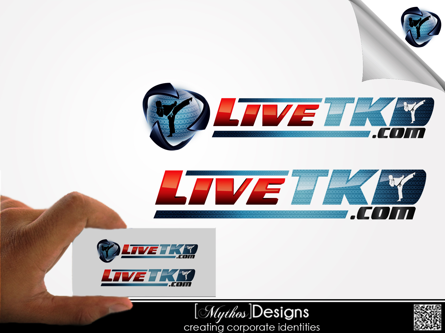 Logo Design by Mythos Designs - Entry No. 113 in the Logo Design Contest New Logo Design for LiveTKD.com.