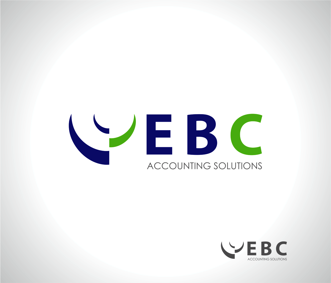 Logo Design by Armada Jamaluddin - Entry No. 138 in the Logo Design Contest New Logo Design for EBC Accounting Solutions.