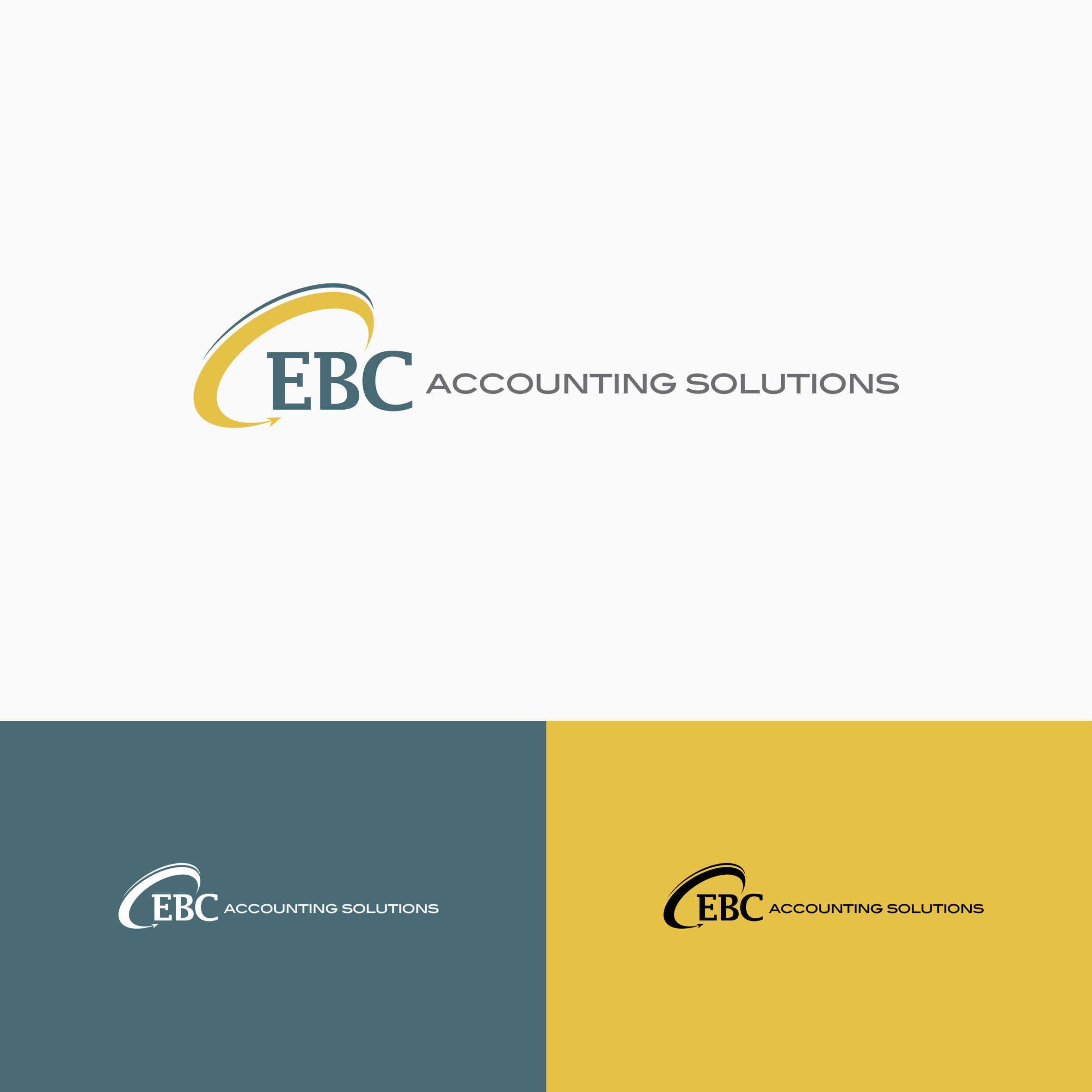 Logo Design by tanganpanas - Entry No. 146 in the Logo Design Contest New Logo Design for EBC Accounting Solutions.