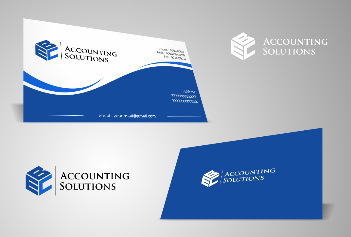 Logo Design by haidu - Entry No. 147 in the Logo Design Contest New Logo Design for EBC Accounting Solutions.